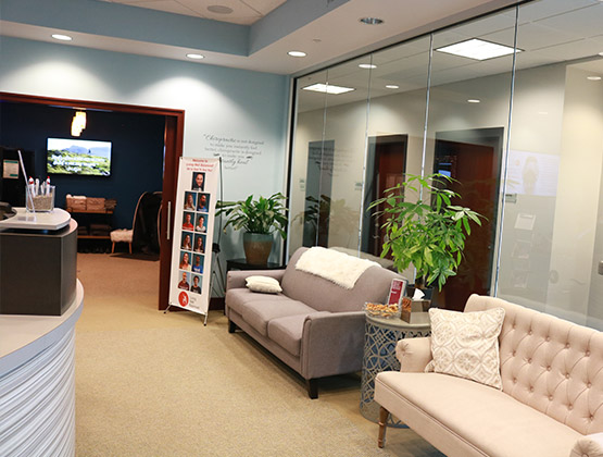 Reception area of our Natural Healing Center