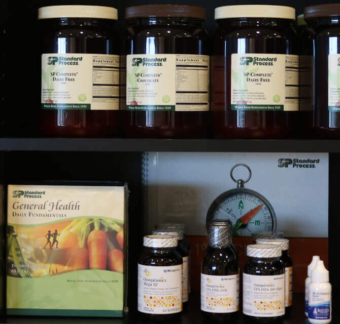 Standard Process nutrition supplements available at Living Well Balanced